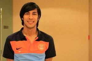 Arata Izumi wearing his new Indian National Team kit.