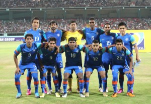 India's starting line-up against Palestine.