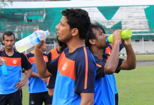 Lalakamal Bhowmick (back -- right) feels the whole lot of new boys in the National Team is a positive sign.