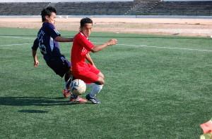 Meghalaya (red jersey) Vs Arunachal Pradesh during the Third Place  (1)