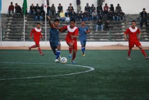 Meghalaya (red jersey) vs Assam (1)