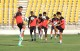 The Indian National Team Players practice in Goa.